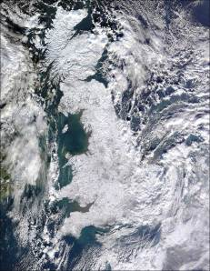 The UK, as seen from satellites.