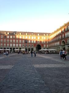 The Plaza Mayor as it starts to get dark... around 10pm!