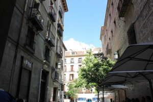 The alleyway where San Gines hides